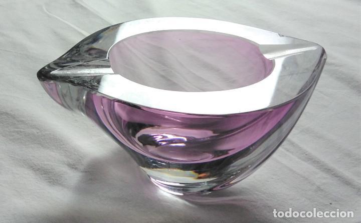 Antigüedades: Cenicero cristal de Murano, años 1970. Estado excelente - Foto 2 - 278628708