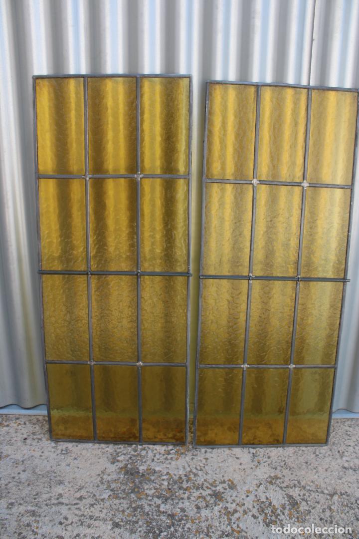 Antigüedades: 2 cristaleras vidrio con plomo - Foto 3 - 278673088