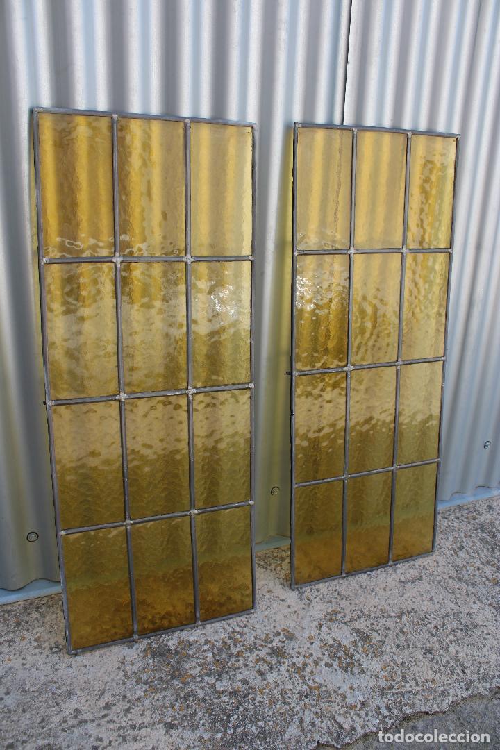 Antigüedades: 2 cristaleras vidrio con plomo - Foto 6 - 278673088