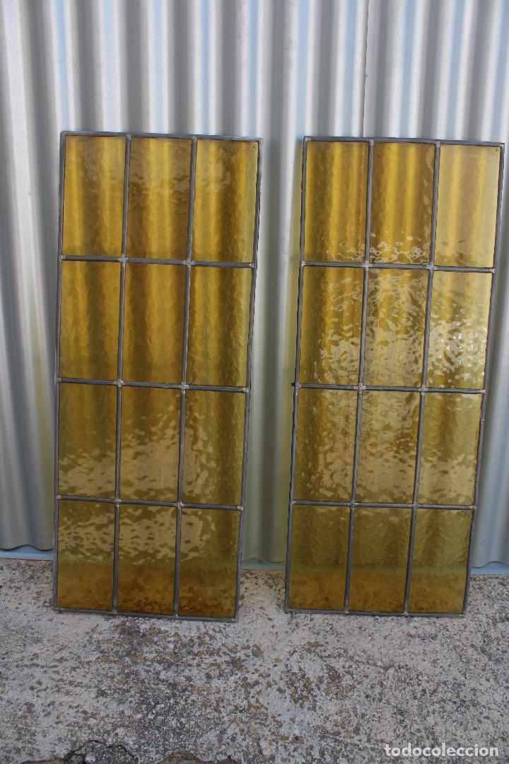 2 CRISTALERAS VIDRIO CON PLOMO (Antigüedades - Cristal y Vidrio - Otros)