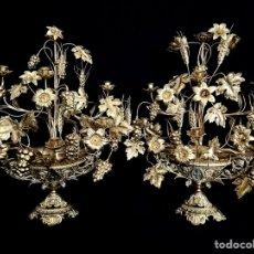 Antigüedades: ORIGINAL PAREJA DE CANDELABROS. Lote 278694078