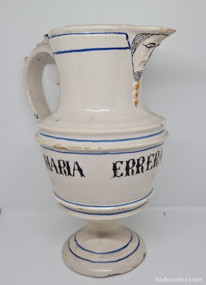 Antigüedades: EXCEPCIONAL JARRA PERSONALIZADA EN CERAMICA DE MANISES,(VALENCIA),S. XIX - Foto 2 - 278815528