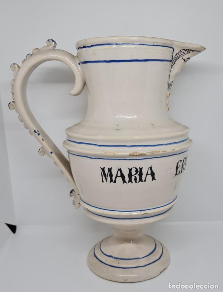EXCEPCIONAL JARRA PERSONALIZADA EN CERAMICA DE MANISES,(VALENCIA),S. XIX (Antigüedades - Porcelanas y Cerámicas - Manises)