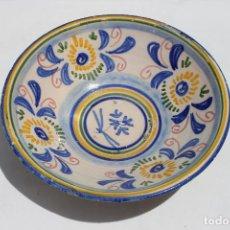 Antigüedades: FUENTE HONDA DE MANISES MOTIVOS FLORALES SIGLO XX. Lote 278821483