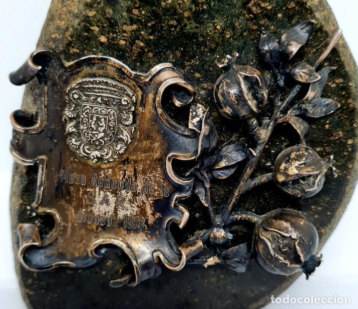 Antigüedades: MUY BONITO PISAPAPELES EN PIEDRA CON APLICACION DE PLATA - Foto 4 - 278824408
