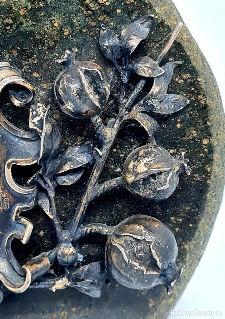 Antigüedades: MUY BONITO PISAPAPELES EN PIEDRA CON APLICACION DE PLATA - Foto 6 - 278824408