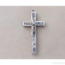 Antigüedades: CRUZ DE JERUSALEN DE MADERA Y NACAR. Lote 278843783
