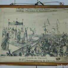 Antigüedades: 51002 - TAPIZ DE TELA CON GRABADO SOBRE PAPEL - CONCILE DE CLERMONT - Nº 27. Lote 278867043