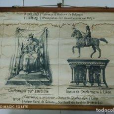 Antigüedades: 51003 - TAPIZ DE TELA CON GRABADO SOBRE PAPEL - CHARLEMAGNE EMPEREUR - Nº 14. Lote 278867338