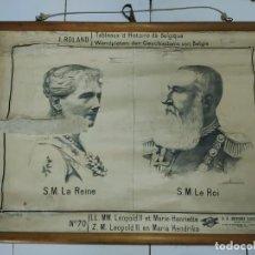 Antigüedades: 51004 - TAPIZ DE TELA CON GRABADO SOBRE PAPEL - LEOPOLD II ET MARIE HENRIETTE - Nº 70. Lote 278867393