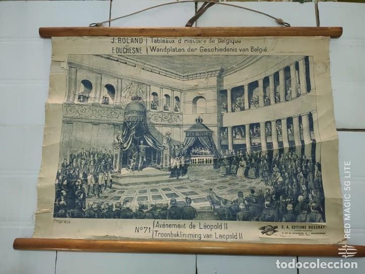 51005 - TAPIZ DE TELA CON GRABADO SOBRE PAPEL - AVENEMENT DE LEOPOLD II - Nº 71 (Antigüedades - Hogar y Decoración - Tapices Antiguos)