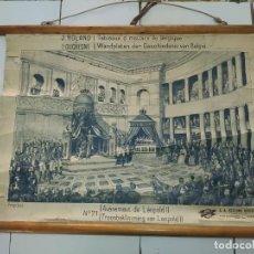Antigüedades: 51005 - TAPIZ DE TELA CON GRABADO SOBRE PAPEL - AVENEMENT DE LEOPOLD II - Nº 71. Lote 278867488