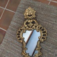 Antigüedades: ESPEJO CORNUCOPIA DE MADERA PAN DE ORO. Lote 278882298
