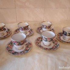 Antigüedades: PRECIOSO SERVICIO DE CAFÉ CON PLATO DE GALLETAS DE PORCELANA SELTMANN WEIDEN GERMANY,PINTADO A MANO. Lote 278921493