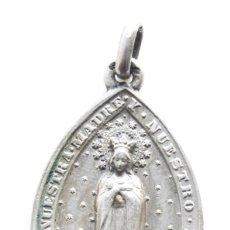 Antigüedades: MEDALLA DE PLATA, SIGLO XIX. HIJA DE MARIA. 4,2CM. Lote 278927278