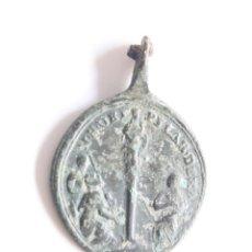 Antigüedades: MEDALLA SIGLO XVIII SAN BENITO Y VIRGEN DEL PILAR.. Lote 278927363