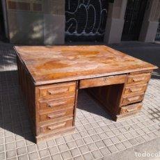 Antigüedades: MESA AMERICANA DOBLE CARA. Lote 278940818