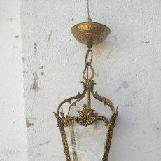 Antigüedades: FAROL DE BRONCE. Lote 278954208