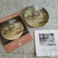 Antigüedades: COLECCIÓN PAISAJES DE FRANCIA: PICNIC EN EL CÉSPED. PLATO PORCELANA LIMOGES. NUMERADO Y CERTIFICADO.. Lote 278972623