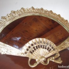Antigüedades: ESPEJO ABANICO DE BRONCE. Lote 279374423