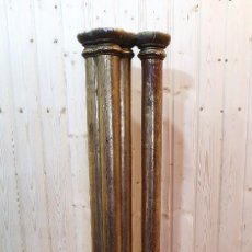 Antigüedades: ANTIGUA COLUMNA DE MADERA EN PAN DE ORO. Lote 279377438