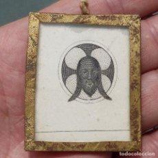 Antigüedades: ANTIGUO ESCAPULARIO DE LA SANTA FAZ, SIGLO XIX. Lote 279383278