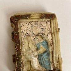 Antigüedades: LIBRO DE CERA, PROMESAS, COMUNIÓN, SIGLO XIX. Lote 279384133