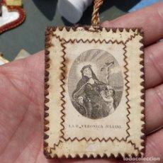 Antigüedades: ESCAPULARIO DE SANTA VERÓNICA JULIANI, SIGLO XIX. Lote 279385448