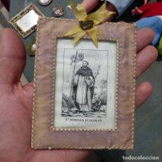 Antigüedades: ESCAPULARIO DE SANTO DOMINGO GUZMAN, SIGLO XIX. Lote 279391578