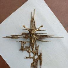 Antigüedades: CRUCIFIJO CRISTO DE DALI EN BRONCE 60 CMS. Lote 279410648