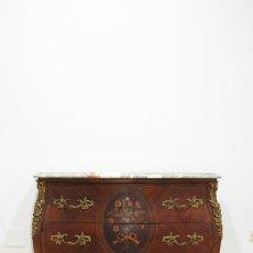 Antigüedades: CÓMODA ANTIGUA LUIS XV MADERA Y MARQUETERIA. Lote 279437228