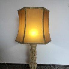 Antigüedades: PIE DE LAMPARA COM MOTIVOS ASIÁTICOS - CAMPOS-ORRICO CARAVACA /MURCIA/, AÑOS 60/70.. Lote 279456338