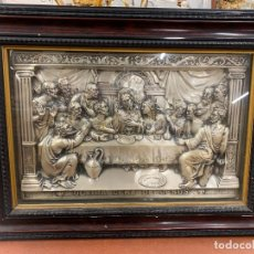 Antigüedades: EXTRAORDINARIA SANTA CENA EN PLATA O PLATEADA, ENMARCADA.. LA ULTIMA CENA DE JESUS. LEER MAS.... Lote 279458148