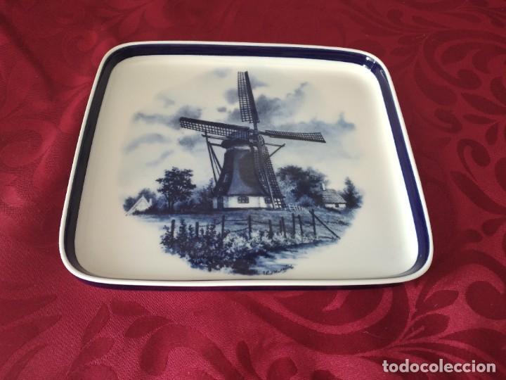 Antigüedades: Preciosa bandeja de porcelana delft made in holland. - Foto 2 - 279459048
