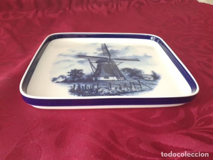 Antigüedades: Preciosa bandeja de porcelana delft made in holland. - Foto 3 - 279459048