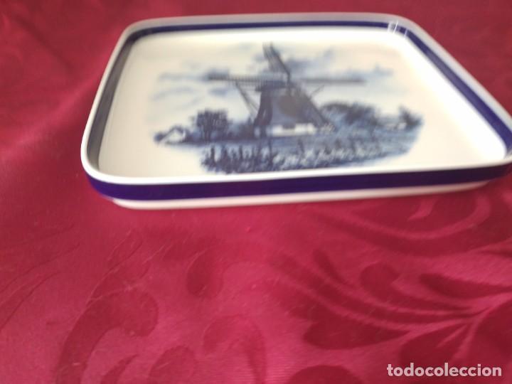 Antigüedades: Preciosa bandeja de porcelana delft made in holland. - Foto 4 - 279459048