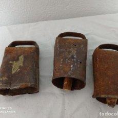Antigüedades: LOTE DE 3 CENCERROS ANTIGUOS!. Lote 279550308