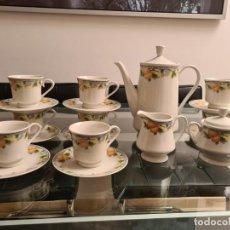 Antigüedades: JUEGO DE CAFÉ DE PORCELANA FINA INGLESA DE ROYAL KENT. Lote 279578528