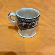 Antigüedades: ANTIGUA TAZA CARTUJA PICKMAN - 7,5X6 CM. NEGRO. Lote 279581733