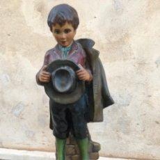 Antigüedades: FIGURA RELIGIOSA DE MUCHACHO EN ACTITUD DE ORACIÓN. Lote 280110203