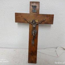 Antigüedades: GRANDE Y ANTIGUO CRUCIFIJO DE MA MADERA!. Lote 280115273