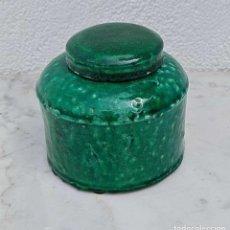 Antigüedades: ANTIGUO TIBOR VIDREADO, MUY BONITO Y DECORATIVO, MUY PESADO, 1.6 KG. MIRAR FOTOS.. Lote 280166093