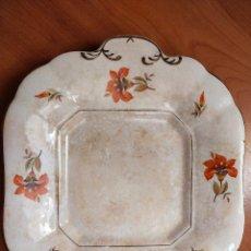 Antigüedades: RARA BANDEJA DE 1800 DE PICKMAN 23X 23. Lote 280195213