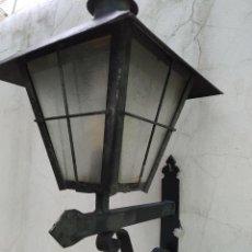 Antigüedades: ANTIGUO FAROL HIERRO FAROLA SOPORTE PARED DECORACION JARDIN, CASA RUSTICA, RURALL. Lote 280210173