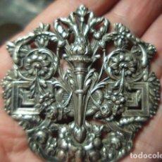 Antigüedades: PRECIOSO REMATE DE VARA PROCESIONAL EN PLATA - SIGLO XIX - MACIZA. Lote 280248328