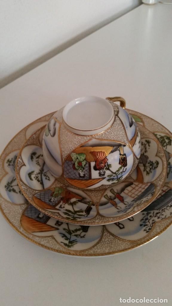 PRECIOSA ALMOSADERA PORCELANA CHINA ORIGINAL HECHO Y PINTADO A MANO TIENE LA CRA DENTRO DA TAZA (Antigüedades - Porcelanas y Cerámicas - China)