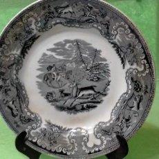 Antigüedades: INTERESANTE PLATO DE CARTAGENA. LA MANO AMIGA. CACERÍA. MUY IMPORTANTE MARCA.. LIQUIDANDO. Lote 267691699
