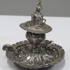 Antigüedades: PALMATORIA DE PLATA. SIGUIENDO MODELOS BARROCOS. PUNZONADA. SIGLO XIX. Lote 280463223