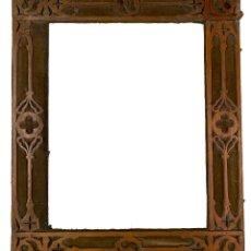 Antigüedades: ANTIGUO MARCO DE CEREZO NEOGÓTICO. S. XIX. RAREZA.48X40. Lote 280529613