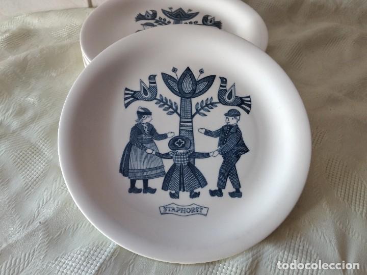 Antigüedades: Lote de 6 platos de postre de platos de porcelana made in holland Esfinge Maastricht - Foto 2 - 280584178